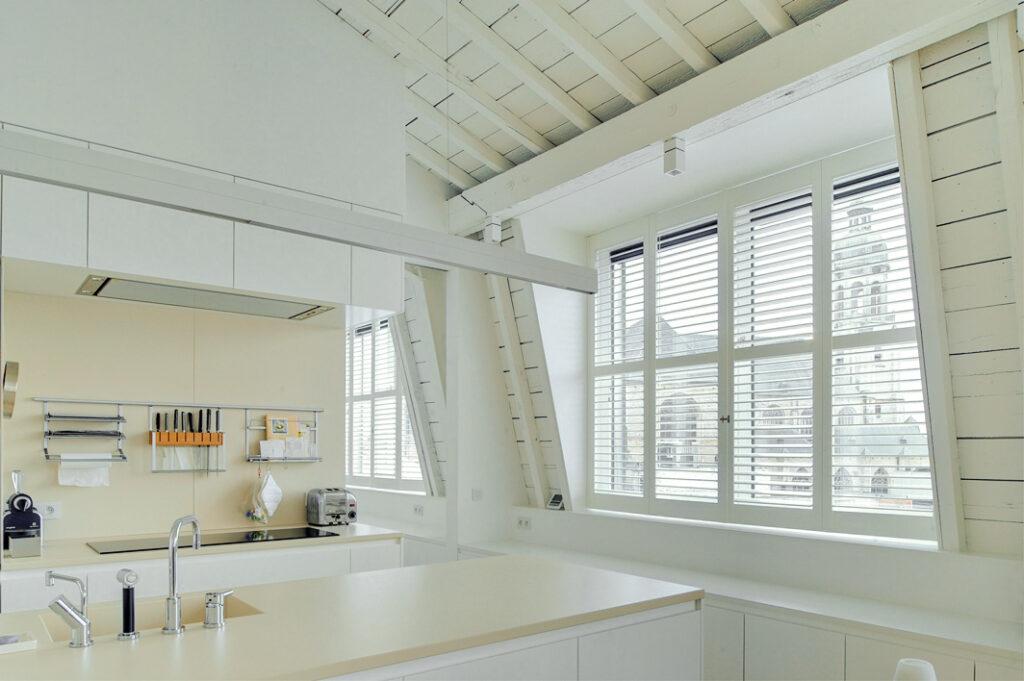full height shutter in kitchen