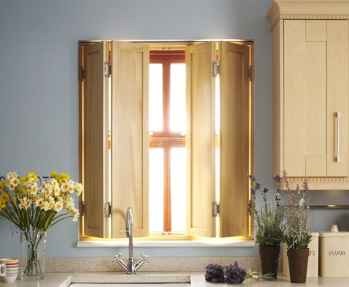 plantation window shutter solid wood panel